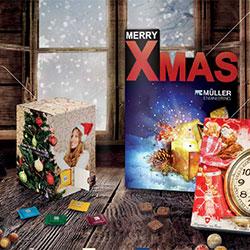 Chokolade julekalender med logo tryk katalog