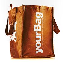 Yourbag katalog med logo tryk