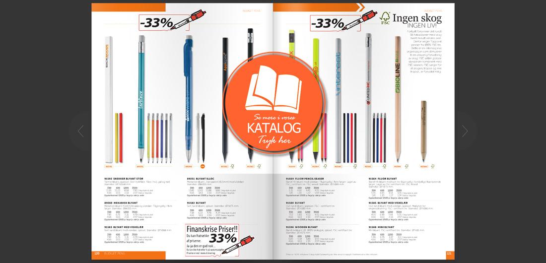 Reklame blyant katalog