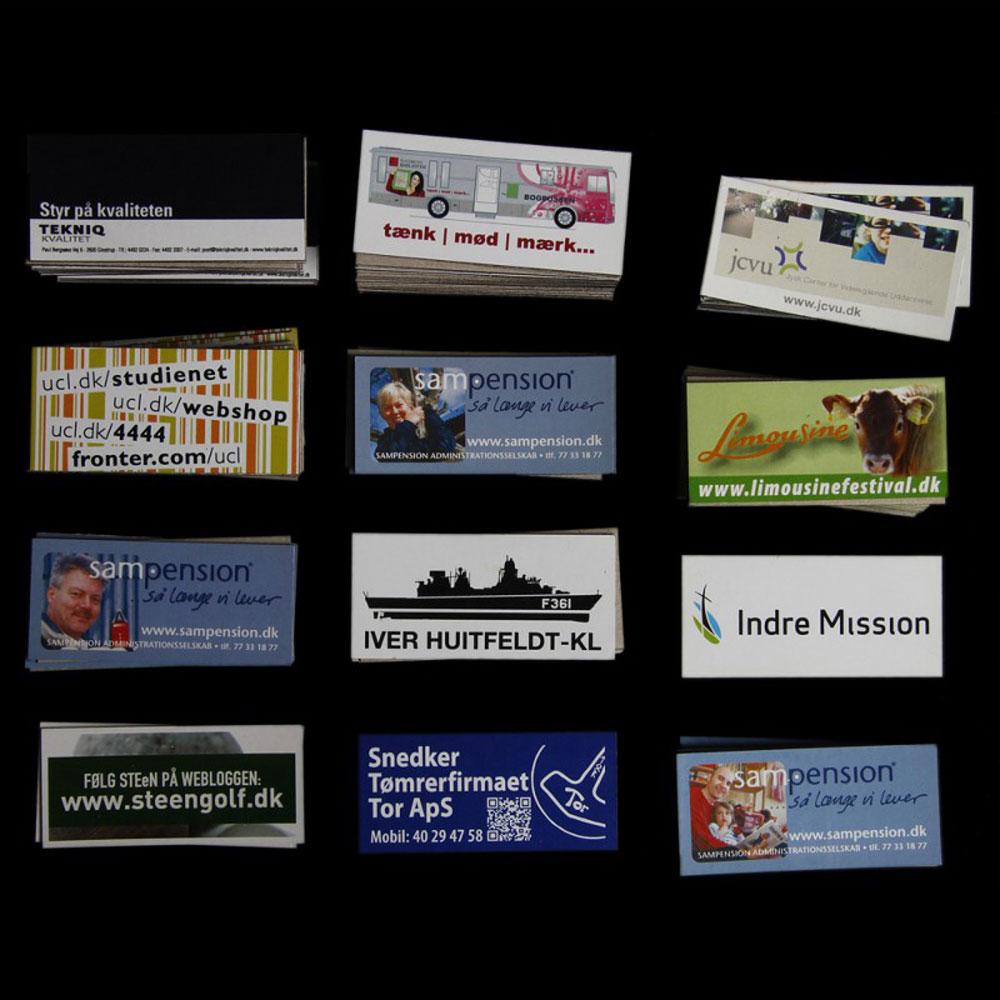Reklamemagneter med logo tryk - 6,5 x 3 cm.