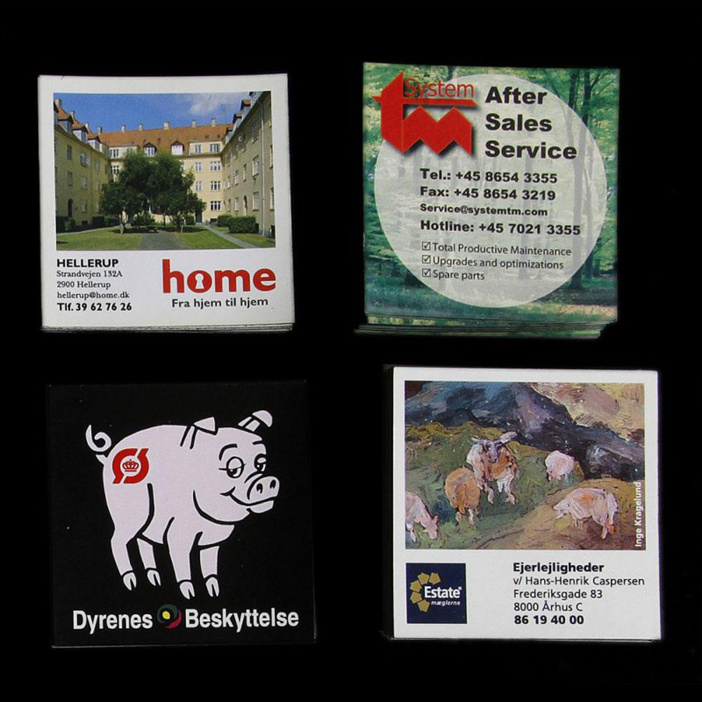 Reklamemagneter med logo tryk - 6,3 x 6,3 cm.