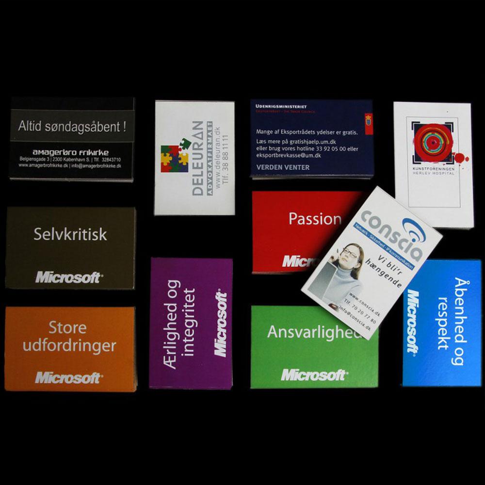 Reklamemagneter som visitkort med tryk