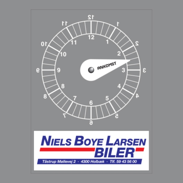 P-skiver med logo tryk - Firkantet model