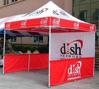 telte med reklame