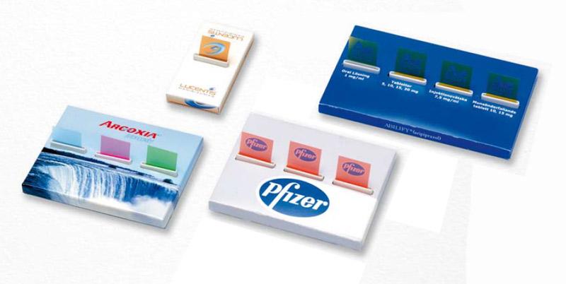 Zig-Zag pagemarkers med logo tryk