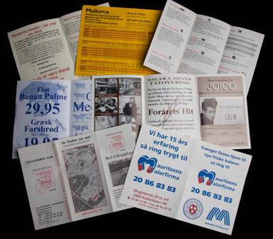 2-farvede brochurer med logo tryk