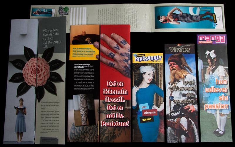 Lange brochurer/flyers med logo tryk