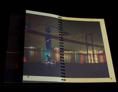 Brochurer med halv sider og tryk