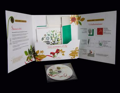 Brochurer med vareprøver og tryk