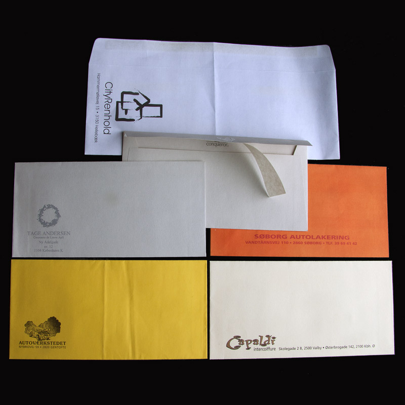 Special kuverter med logo tryk