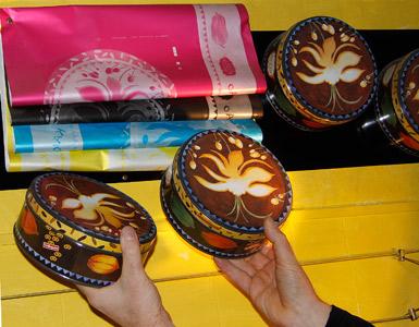 Kagedåser med logotryk