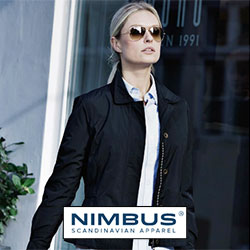 Nimbus tøj med reklame tryk